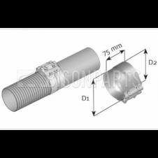 UNIVERSAL EXHAUST CLAMP (Diameter [mm]: 127/132)