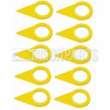 32MM WHEEL NUT INDICATOR YELLOW (PKT 10)