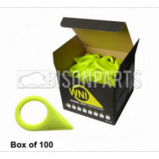 32MM WHEEL NUT INDICATOR YELLOW (PKT 100)