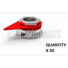 30MM WHEEL NUT INDICATOR RED (PKT 50)