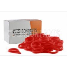 32MM WHEEL NUT INDICATOR RED (PKT 10)