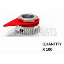 38MM WHEEL NUT INDICATOR RED (PKT 100)