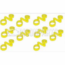 38MM WHEEL NUT CHECKLINKS YELLOW (PKT 10)