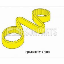 38MM WHEEL NUT CHECKLINKS YELLOW (PKT 100)