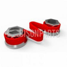 32MM WHEEL NUT CHECKLINK RED (EACH)