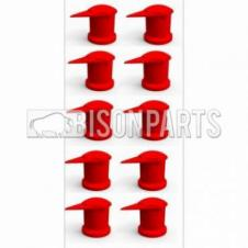 33MM LONG REACH DUSTITE WHEEL NUT COVERS RED (PKT 10)