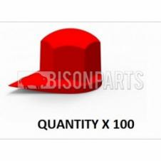 *38MM X 10 UNIVERSAL DUSTITE WHEEL NUT COVER INDICATOR YELLOW BP110-228 X 10