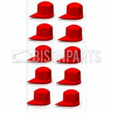 32MM DUSTITE WHEEL NUT COVERS RED (PKT 10)
