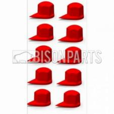 33MM DUSTITE WHEEL NUT COVERS RED (PKT 10)