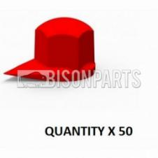 38MM DUSTITE WHEEL NUT COVERS RED (PKT 50)