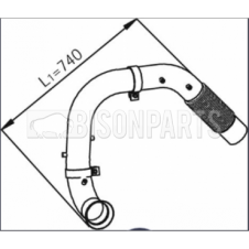 MERCEDES AXOR (2004 ON) EXHAUST FLEXI DOWN PIPE