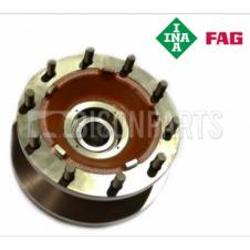 FRONT WHEEL HUB, STUDS, DISC & BEARINGS