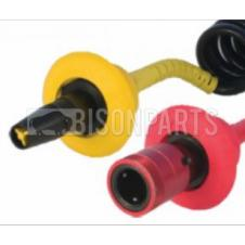 TRAILER AIR LINE MALE & FEMALE C COUPLING EASY GRIP HANDLES (PAIR)