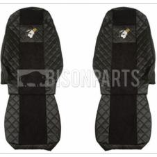 VOLVO FH VERSION 4 EURO 6 (2013 on) Seat Covers Elegance (BLACK)