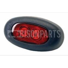 REAR RED OVAL LED RUBBOLITE MARKER LAMP 12 / 24 VOLT