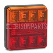 UNIVERSAL REAR STOP, TAIL & INDICATOR LED COMBINATION LAMP 12 VOLT