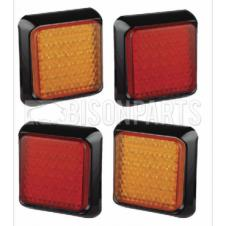 UNIVERSAL REAR INDICATOR & STOP TAIL LED COMBINATION LAMPS 12/24 VOLT