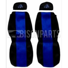 SCANIA 4 SERIES (1995 - 2004) SEAT COVERS PAIR (BLUE TRIM)