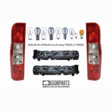 PANEL VAN REAR COMBINATION LAMPS, BULBHOLDERS & BULBS RH & LH