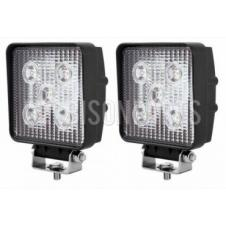 LED SQUARE WORKLAMPS 12/24 VOLT (PAIR)