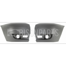 Front Bumper Outer Dark Grey Section With Lamp Holes RH & LH