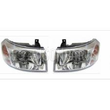 CHROME HEADLAMP ASSEMBLY LH & RH