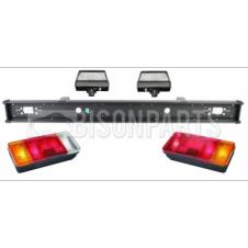 REAR BUMPER BAR RUN & LAMPS ASSEMBLY