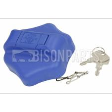 60MM AD-BLUE LOCKING CAP & KEYS