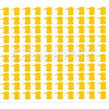 32MM LONG REACH DUSTITE WHEEL NUT COVERS SOLID YELLOW (PKT 100)