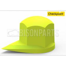 32MM DUSTITE WHEEL NUT COVERS FLUORESCENT YELLOW (PKT 100)