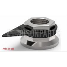 33MM WHEEL NUT INDICATOR BLACK (PKT 100)