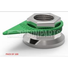 33MM WHEEL NUT INDICATOR GREEN (PKT 100)
