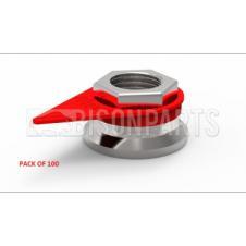 21MM WHEEL NUT INDICATOR RED (PKT 100)