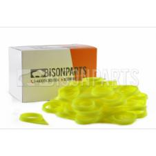 32MM WHEEL NUT INDICATOR FLOURESCENT YELLOW (PKT 100)