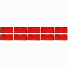 RED SELF ADHESIVE REAR REFLECTOR (PKT 10)