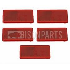 RED SELF ADHESIVE REAR REFLECTOR (PKT 5)