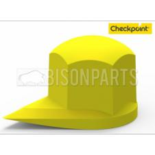 41MM DUSTITE WHEEL NUT COVERS SOLID YELLOW (PKT 100)