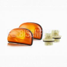 AMBER SIDE REPEATER LAMPS & BULB HOLDERS FITS RH & LH (PAIR)
