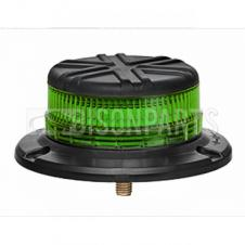 LED GREEN LOW PROFILE 1 BOLT BEACON