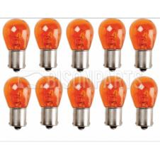 SINGLE CONTACT AMBER TAIL LAMP BULB 24 VOLT