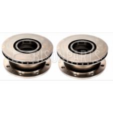 REAR BRAKE DISC & ABS EXCITER RING FITS RH & LH (PAIR)