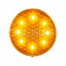 LED AMBER ROUND INDICATOR LAMP 12/24V