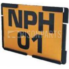 Thermoplastic Number Plate Holder