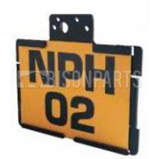 Thermoplastic Number Plate Holder c/w Lamp Fixing Brackets