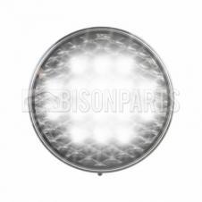 LED CLEAR ROUND REVERSE LAMP 12/24V