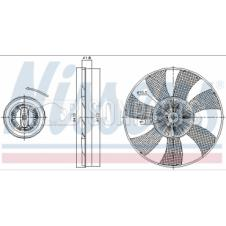VISCOUS FAN CLUTCH HUB & BLADE ASSEMBLY