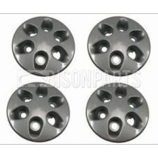 6 HOLE BLACK WHEEL HUB TRIM COVER FITS RH & LH (PKT 4)
