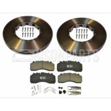 BRAKE DISC & BRAKE PAD AXLE SET