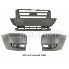 LIGHT GREY FRONT BUMPER ASSEMBLY WITHOUT FOG LAMP HOLES