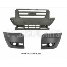 LIGHT GREY FRONT BUMPER ASSEMBLY WITH FOG LAMP HOLES